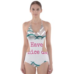 Have A Nice Day Cut-Out One Piece Swimsuit