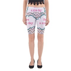 Have A Nice Day Yoga Cropped Leggings
