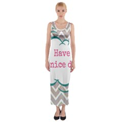 Have A Nice Day Fitted Maxi Dress