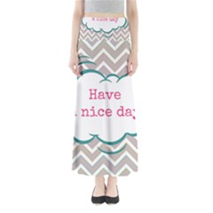 Have A Nice Day Full Length Maxi Skirt