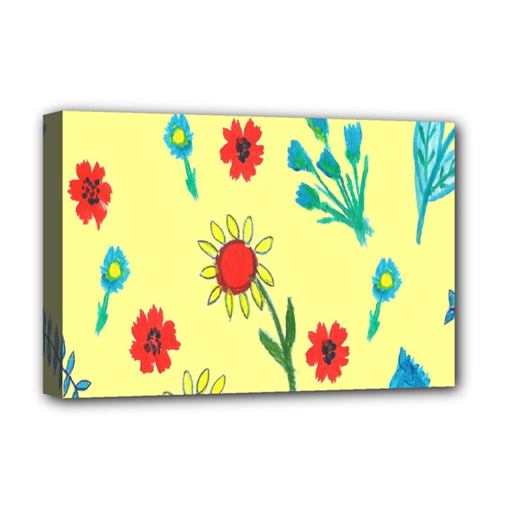 Flowers Fabric Design Deluxe Canvas 18  x 12