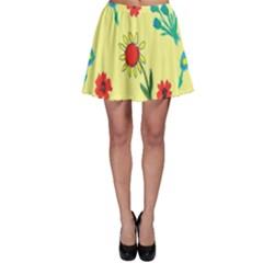 Flowers Fabric Design Skater Skirt