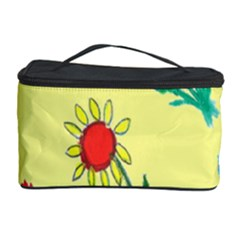 Flowers Fabric Design Cosmetic Storage Case