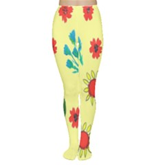 Flowers Fabric Design Women s Tights