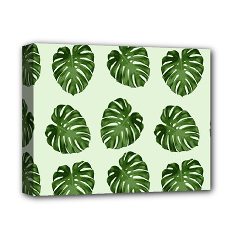 Leaf Pattern Seamless Background Deluxe Canvas 14  x 11