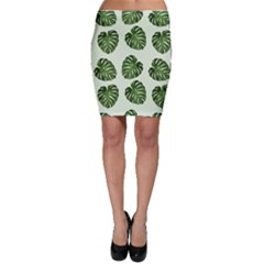 Leaf Pattern Seamless Background Bodycon Skirt