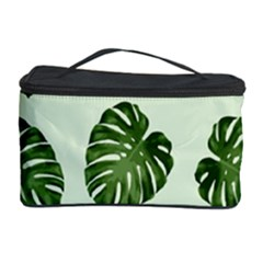 Leaf Pattern Seamless Background Cosmetic Storage Case