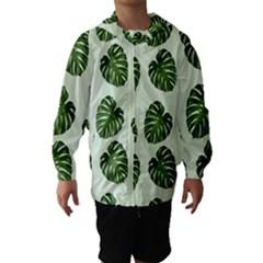 Leaf Pattern Seamless Background Hooded Wind Breaker (kids)