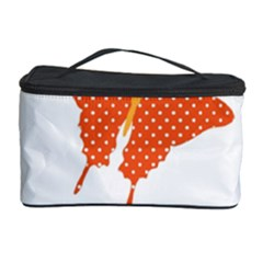 Beautiful Colorful Polka Dot Butterflies Clipart Cosmetic Storage Case