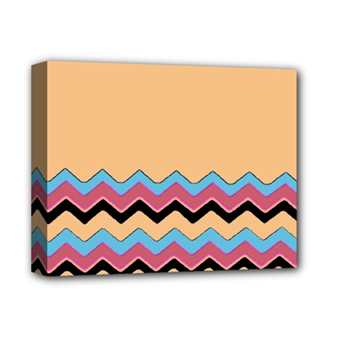 Chevrons Patterns Colorful Stripes Deluxe Canvas 14  X 11
