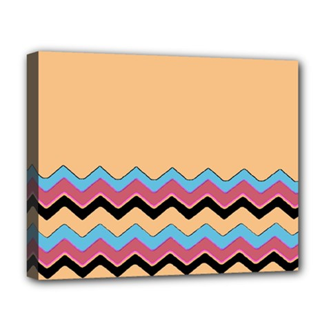 Chevrons Patterns Colorful Stripes Deluxe Canvas 20  X 16