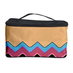 Chevrons Patterns Colorful Stripes Cosmetic Storage Case