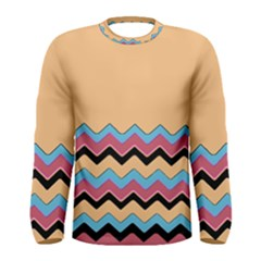 Chevrons Patterns Colorful Stripes Men s Long Sleeve Tee