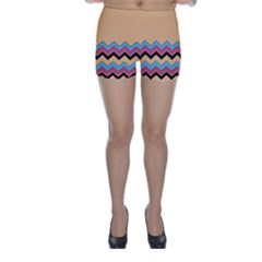 Chevrons Patterns Colorful Stripes Skinny Shorts