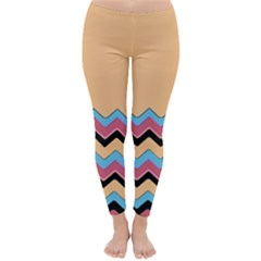 Chevrons Patterns Colorful Stripes Classic Winter Leggings