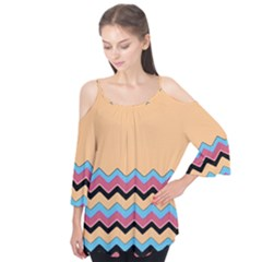 Chevrons Patterns Colorful Stripes Flutter Tees