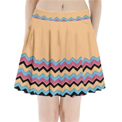 Chevrons Patterns Colorful Stripes Pleated Mini Skirt