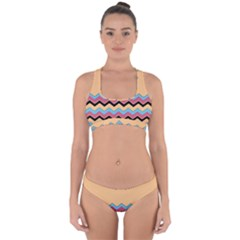 Chevrons Patterns Colorful Stripes Cross Back Hipster Bikini Set