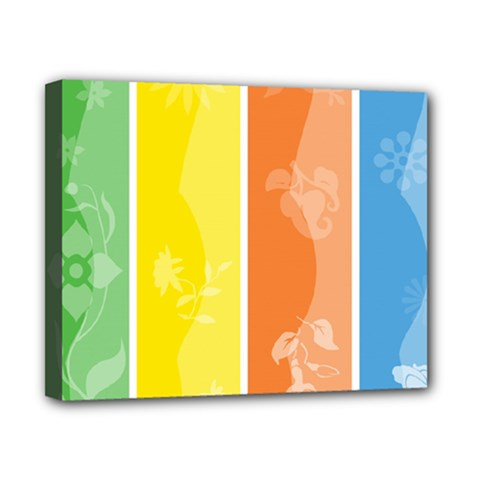 Floral Colorful Seasonal Banners Canvas 10  x 8