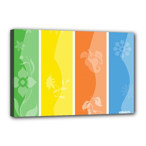 Floral Colorful Seasonal Banners Canvas 18  X 12