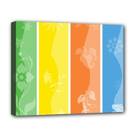 Floral Colorful Seasonal Banners Deluxe Canvas 20  X 16