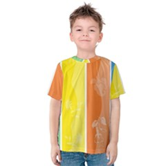 Floral Colorful Seasonal Banners Kids  Cotton Tee