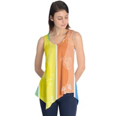 Floral Colorful Seasonal Banners Sleeveless Tunic