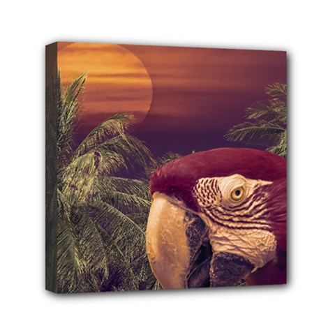 Tropical Style Collage Design Poster Mini Canvas 6  x 6