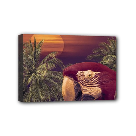 Tropical Style Collage Design Poster Mini Canvas 6  x 4