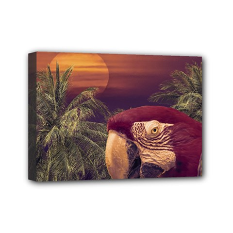 Tropical Style Collage Design Poster Mini Canvas 7  x 5