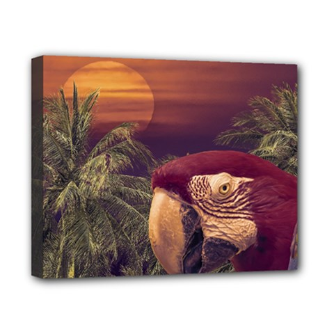 Tropical Style Collage Design Poster Canvas 10  x 8