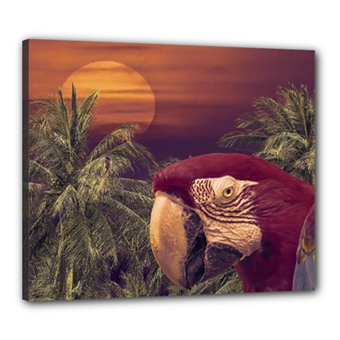 Tropical Style Collage Design Poster Canvas 24  X 20
