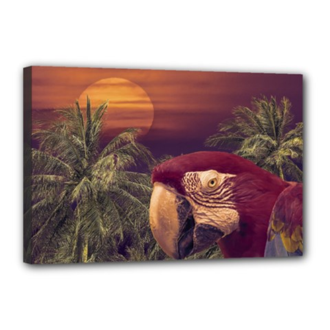 Tropical Style Collage Design Poster Canvas 18  x 12