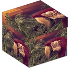 Tropical Style Collage Design Poster Storage Stool 12