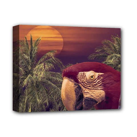 Tropical Style Collage Design Poster Deluxe Canvas 14  x 11