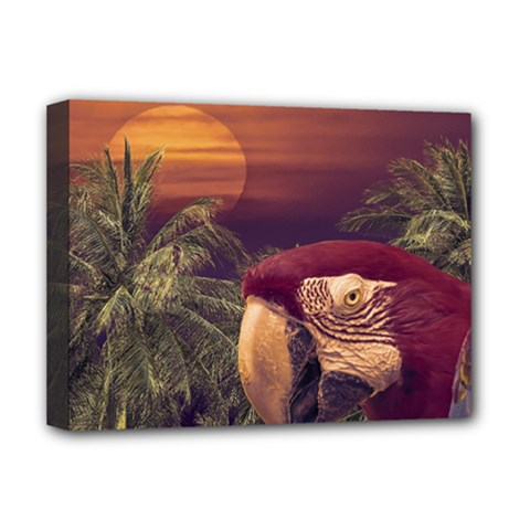 Tropical Style Collage Design Poster Deluxe Canvas 16  x 12