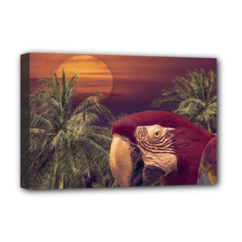 Tropical Style Collage Design Poster Deluxe Canvas 18  x 12