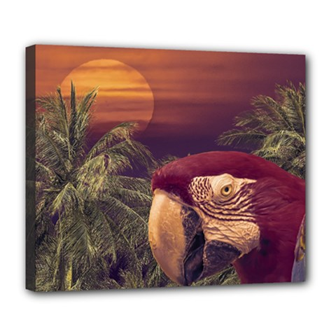 Tropical Style Collage Design Poster Deluxe Canvas 24  x 20