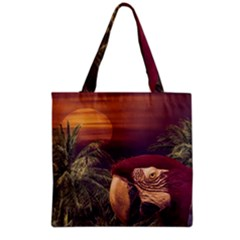 Tropical Style Collage Design Poster Grocery Tote Bag
