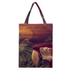 Tropical Style Collage Design Poster Classic Tote Bag