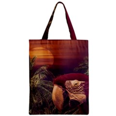 Tropical Style Collage Design Poster Zipper Classic Tote Bag