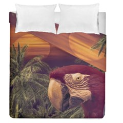 Tropical Style Collage Design Poster Duvet Cover Double Side (Queen Size)