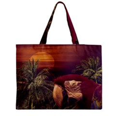 Tropical Style Collage Design Poster Medium Tote Bag