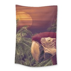 Tropical Style Collage Design Poster Small Tapestry