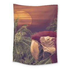 Tropical Style Collage Design Poster Medium Tapestry