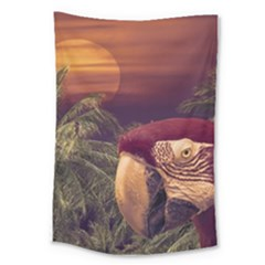 Tropical Style Collage Design Poster Large Tapestry