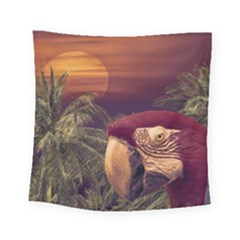 Tropical Style Collage Design Poster Square Tapestry (Small)