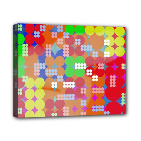 Abstract Polka Dot Pattern Canvas 10  x 8
