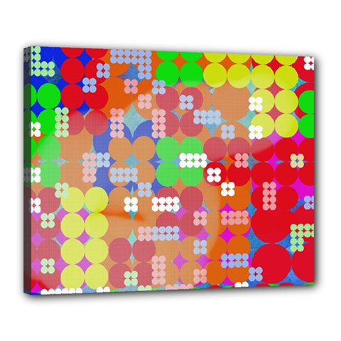 Abstract Polka Dot Pattern Canvas 20  x 16