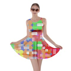 Abstract Polka Dot Pattern Skater Dress